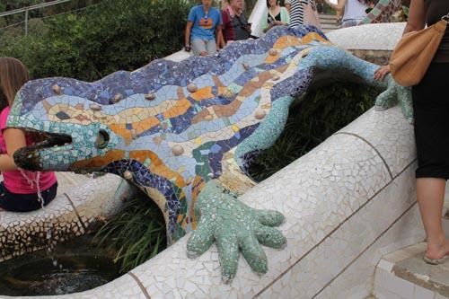 Ящерица в парке Гуэля