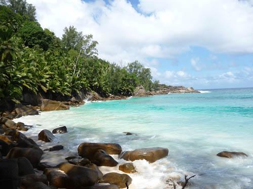 Берег океана на Сейшельских островах