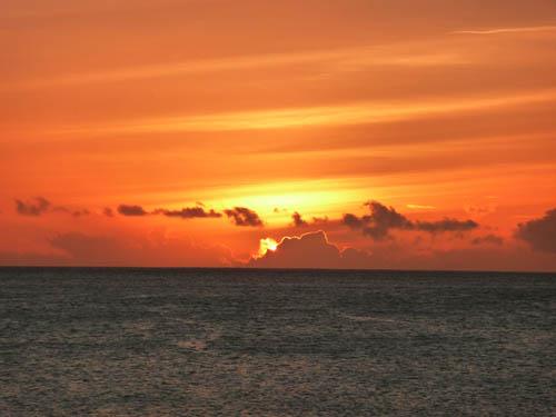 Закат на Сейшелах