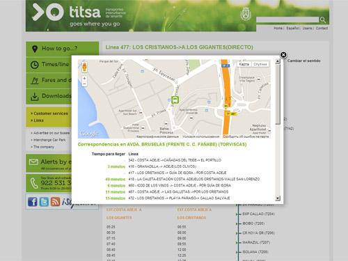 Остановка Titsa на карте
