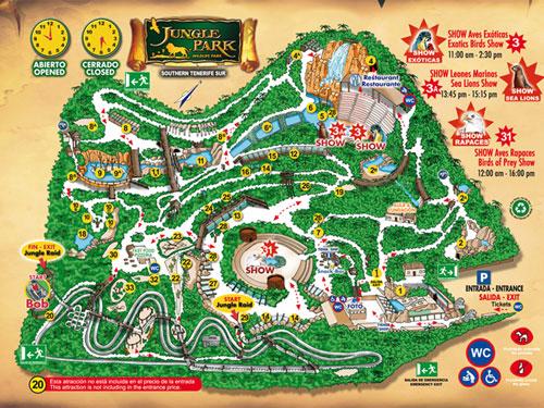 Карта Джангл парка