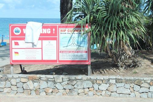 Предупреждение о течении на пляже