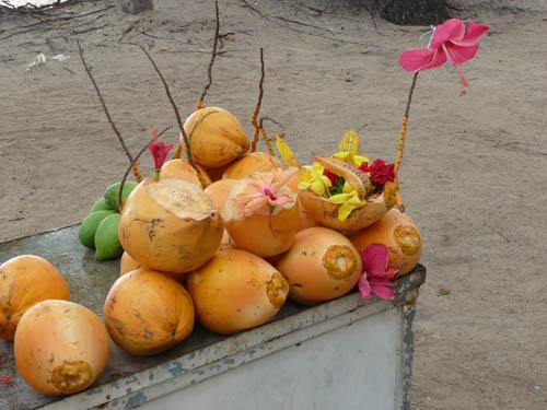 На ярмарке на Сейшельских островах
