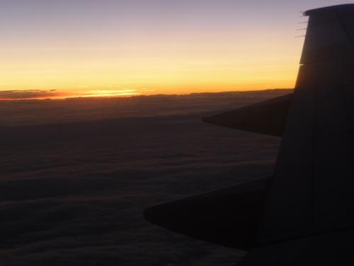 Закат в самолете