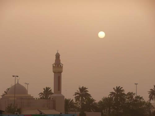Закат во время пыльной бури