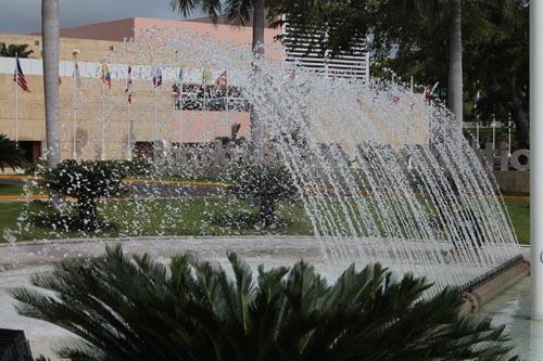 Фонтан у переговорного центра в Barcelo Bavaro Beach