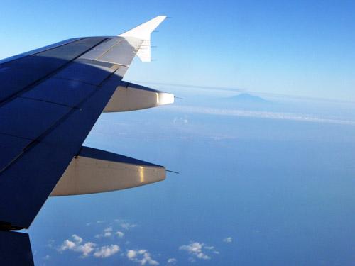 Вид на вулкан Этна с самолета