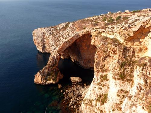 Арка голубого грота на Мальте