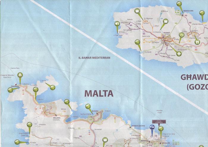 Карта Мальты 1