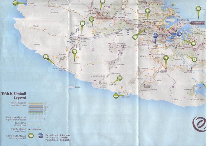 Карта Мальты 2